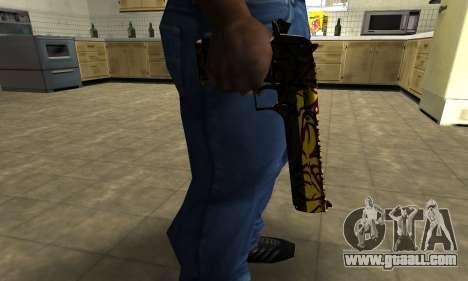Yellow Jungle Deagle for GTA San Andreas