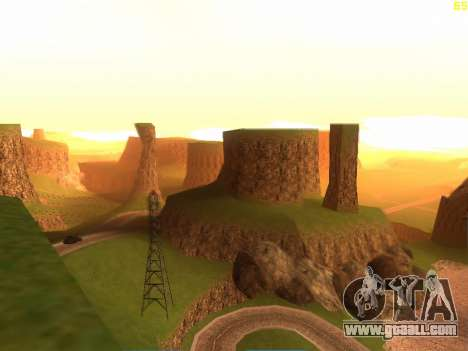 Green desert Las Venturas v2.0 for GTA San Andreas