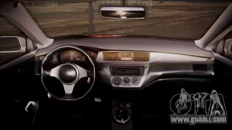 Mitsubishi Lancer Evolution VIII Yatogami Itasha for GTA San Andreas right view