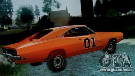 Dodge Charger General Lee for GTA San Andreas back left view