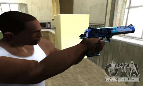 Blue Lines Deagle for GTA San Andreas