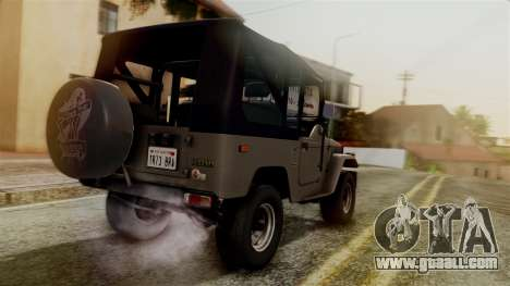Toyota Land Cruiser J40 1980 for GTA San Andreas left view