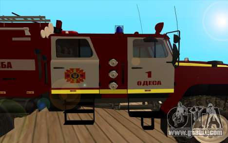 Ural 5557-40 the Ministry of emergency situation for GTA San Andreas back left view