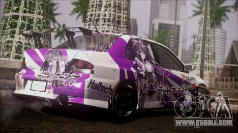 Mitsubishi Lancer Evolution VIII Yatogami Itasha for GTA San Andreas back left view
