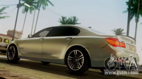 BMW 7 Series F02 2012 for GTA San Andreas back left view