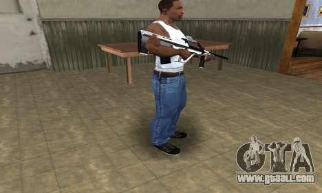 Chrome AUG for GTA San Andreas third screenshot