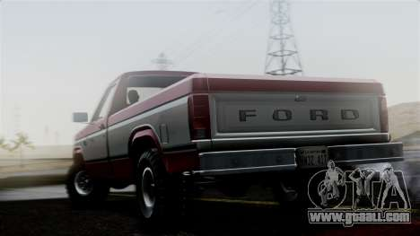 Ford F-150 Ranger 1984 for GTA San Andreas left view