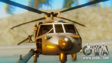 MH-60L Blackhawk for GTA San Andreas inner view
