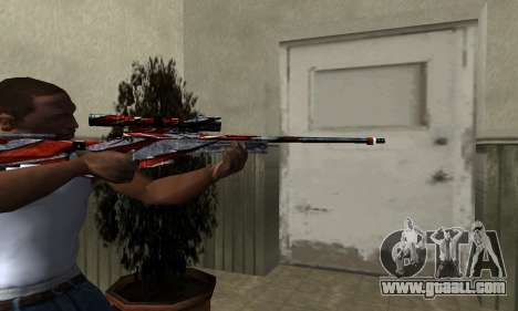 Red Flag Sniper Rifle for GTA San Andreas