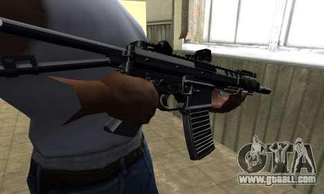 Full Black Automatic Gun for GTA San Andreas
