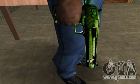 Green Clayn Deagle for GTA San Andreas