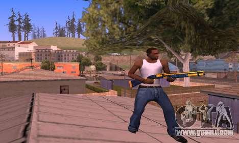 Shotgun BlueYellow for GTA San Andreas third screenshot