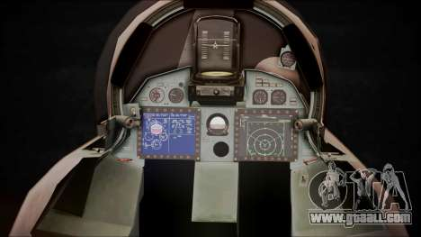SU-35 Flanker-E Ofnir Ace Combat 5 for GTA San Andreas back view