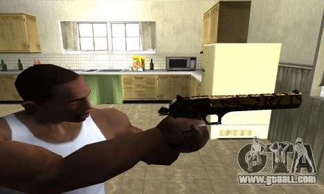 Yellow Jungle Deagle for GTA San Andreas third screenshot