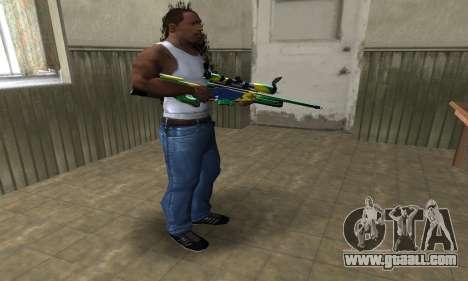 Three Colors Sniper Rifle for GTA San Andreas third screenshot