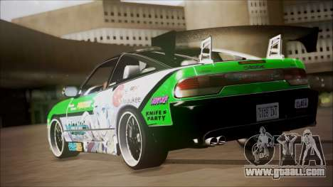 Nissan 240SX Sinon Itasha for GTA San Andreas back left view