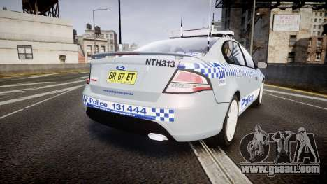 Ford Falcon FG XR6 Turbo Police [ELS] for GTA 4 back left view