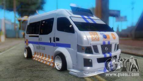 Nissan Urvan NV350 for GTA San Andreas