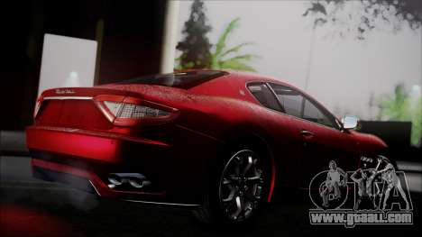 Maserati Gran Turismo 2008 for GTA San Andreas back left view