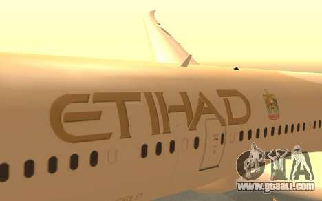 Boeing 787-9 Etihad Airways for GTA San Andreas right view
