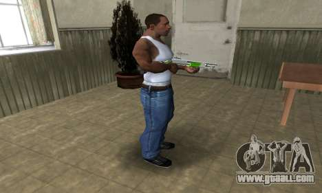Green Lines Shotgun for GTA San Andreas third screenshot