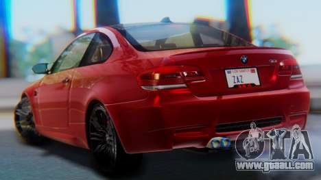 BMW M3 E92 2008 for GTA San Andreas left view