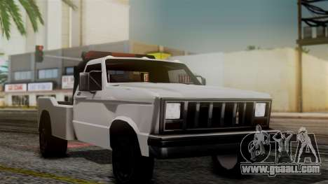 Towtruck New Edition for GTA San Andreas back left view