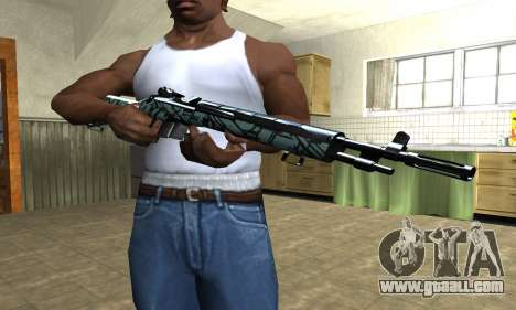 Green Forest Rifle for GTA San Andreas