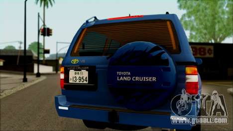 Toyota Land Cruiser 100 UAE Edition for GTA San Andreas inner view