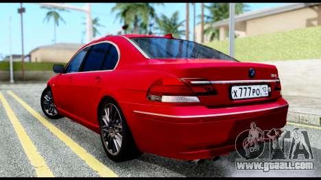 BMW 760Li E66 for GTA San Andreas left view
