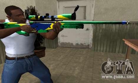 Three Colors Sniper Rifle for GTA San Andreas