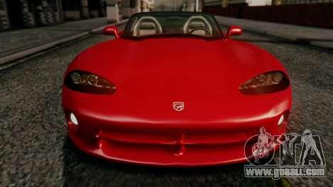 Dodge Viper RT 10 1992 for GTA San Andreas inner view