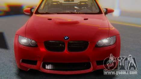 BMW M3 E92 2008 for GTA San Andreas back view