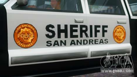 Police 4-door Yosemite for GTA San Andreas right view