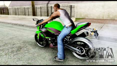 Kawasaki Z250SL Green for GTA San Andreas left view