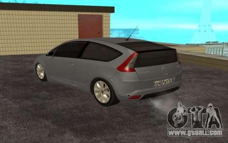Citroen C4 for GTA San Andreas back left view