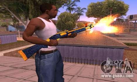Shotgun BlueYellow for GTA San Andreas second screenshot