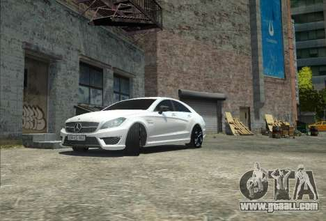 Mercedes-Benz CLS 63 AMG for GTA 4 back view