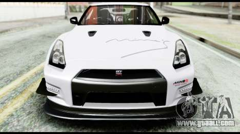 Nissan GT-R R35 2012 for GTA San Andreas upper view