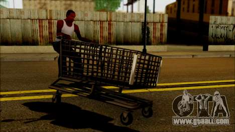 The trolley at the supermarket for GTA San Andreas