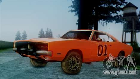 Dodge Charger General Lee for GTA San Andreas left view