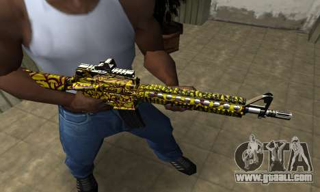 Yellow Jungle M4 for GTA San Andreas