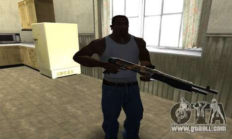 Brighty Yellow Combat Shotgun for GTA San Andreas second screenshot