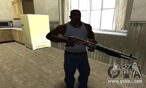 Brighty Yellow Combat Shotgun for GTA San Andreas second screenshot