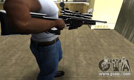Full Black Sniper Rifle for GTA San Andreas