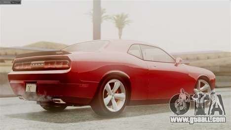 Dodge Challenger SRT8 2009 for GTA San Andreas upper view