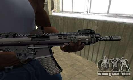 Full Black Automatic Gun for GTA San Andreas second screenshot