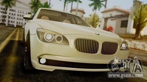 BMW 7 Series F02 2012 for GTA San Andreas back view
