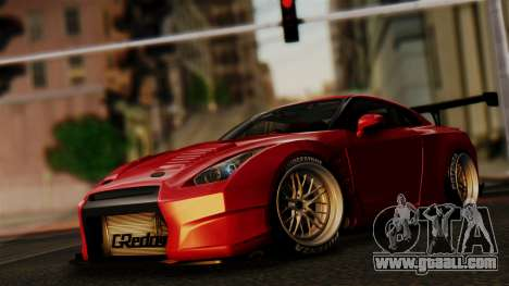 Nissan GT-R R35 Bensopra 2013 for GTA San Andreas upper view
