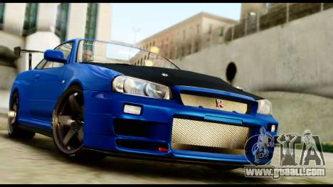 Nissan Skyline GT-R (BNR34) Tuned for GTA San Andreas back left view